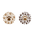 paw print icon design set bundle template isolated vector image