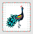 Peacock Embroidery vector image