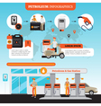 Petrol Station Infographic Set vector image vector image