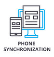 phone synchronization thin line icon sign symbol vector image vector image