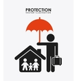 protection icon vector image