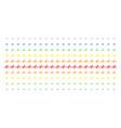 pulse shape halftone spectrum effect vector image