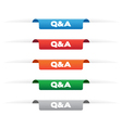 Question and Answer paper tag labels vector image vector image