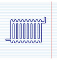 radiator sign navy line icon on notebook vector image vector image