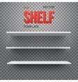 realistic shelf eps10 empty shelf vector image