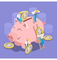 Saving Money Concept Isomeric vector image