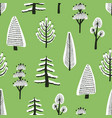 seamless pattern with different hand drawn winter vector image