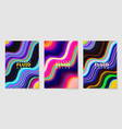 set cover design templates with gradient vector image vector image