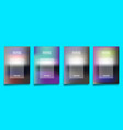 set gradient design cover template for flyer vector image vector image