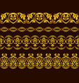 set tape gold seamless floral patterns vector image vector image