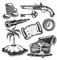 set treasure elements vector image vector image