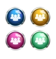 shiny forum chat buttons vector image vector image