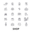 shop shopping bag shopping mall store shopping vector image vector image