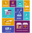 simple engineer icons set vector image vector image