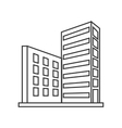 single building icon vector image vector image