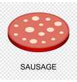 sliced sausage icon isometric style vector image vector image