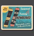 snowboards winter sport equipment skier gear vector image