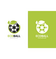soccer and leaf logo combination ball vector image vector image