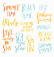 summer vacation lettering set vector image vector image