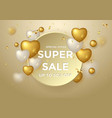 super sale special offer gold composition vector image vector image