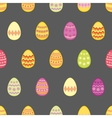Tile pattern with easter eggs on black background vector image vector image