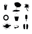 travel symbol silhouette vector image vector image