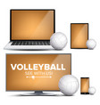 volleyball application field volleyball vector image vector image