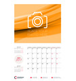 wall calendar planner template for 2017 year may vector image vector image