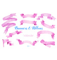 Watercolor ribbons and banners vector image vector image