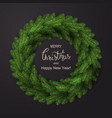 white card with christmas wreath vector image vector image