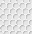 White paper seamless circle background vector image