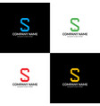 colorful mobile phone logo with letters s vector image