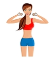 Young sexy woman fitness vector image