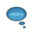 Jeans texture background Speech bubble stickers vector image