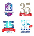 35 Years Anniversary Symbol vector image vector image