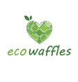 Abstract icon of eco waffles vector image