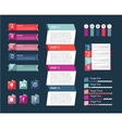 Abstract infographics isolated element set