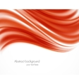 Abstract red wavy backround vector image vector image