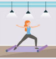 athlete woman training her fitness body vector image