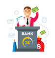 bank finance agent flat style colorful vector image vector image
