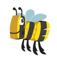 bee cartoon animal in letters vector image vector image