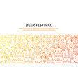 beer festival concept vector image vector image