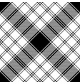 black and white check diagonal texture plaid vector image vector image