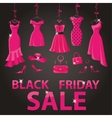 Black friday SalePink party dressesaccessories vector image vector image