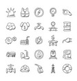 bundle of industrial doodle icons vector image