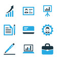 business colorful icons set collection of growing vector image vector image
