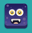 cartoon monster in flat style vector image vector image