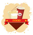 chinesse food and soda vector image vector image