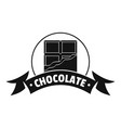 chocolate logo simple black style vector image vector image