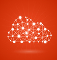 Cloud computing - internet communication network vector image vector image